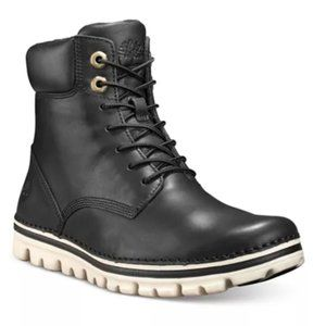 Black Lace Up Timberland Boots - Size 8